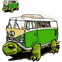 Turtle Van 2-Sided Window Sticker on Sale for $3.99 at HippieShop.com
