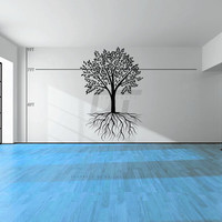 Tree and Roots Wall Graphic - Many Sizes Available - Vinyl Wall Sticker Decals & Decor - Customizable too!
