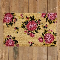 Rose Door Mat in Pink - Urban Outfitters