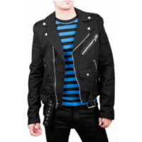 Tripp Moto Black Jacket Denim - Jackets - Men's Online Store