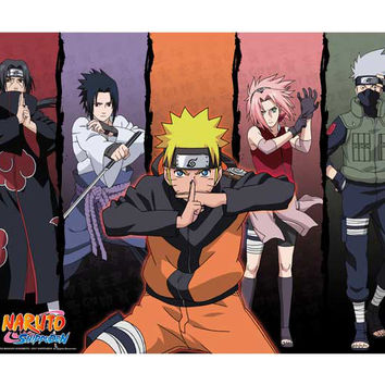 """Naruto: """"Poster - Group 1 (52x38cm) (ABYDCO171)"""" : TokyoToys.com: UK Based e-store, Anime Toys Retail & Wholesale, Manga Action Figures,  Hentai Statues, Japanese Snacks, Pocky, DVDs, Gashapon,  Cosplay, Monkey Shirt, Final Fantasy, Bleach, Naruto, Death N"""