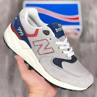 New Balance 999 New fashion letter couple mesh sports shoes Gray