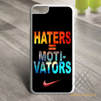 Nike Haters Motivation Nebula Galaxy Custom case for iPhone, iPod and iPad