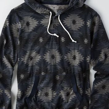 AEO Men's Patterned Hoodie T-shirt (Multi)