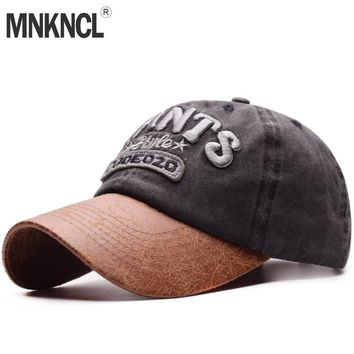 Trendy Winter Jacket MNKNCL 2018 New Letter Men's Baseball Cap Gorras Hats For Men Women Casual Cotton leather Snapback Hat Dad Cap Adjustable AT_92_12