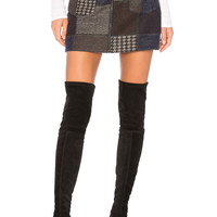 BCBGMAXAZRIA Mollee Skirt in Dark Navy Combo