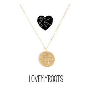 Portugal Coin Necklace Gold #LOVEMYROOTS | Gold Coin Pendant | Portugal | Gift