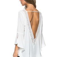 Open Back Bell Sleeve Top - FINAL SALE