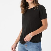 The Micro Modal Relaxed Crew Black