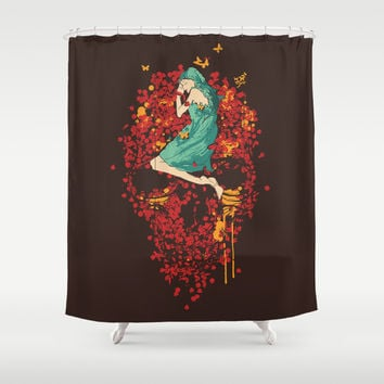 Roses are red but why do you look so blue Shower Curtain by Budi Satria Kwan