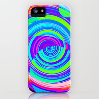 Re-Created Spiral Painting II iPhone & iPod Case by Robert Lee