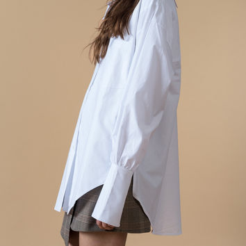 Oversized White Blouse