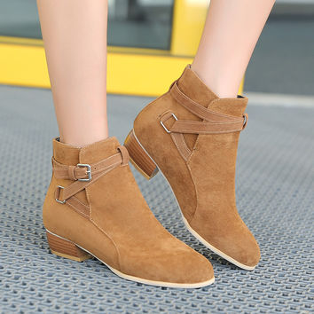 On Sale Hot Deal Winter Plus Size Korean With Heel Boots [6366198660]