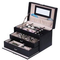 Songmics Black Leather Jewelry Box from Amazon Jewelry