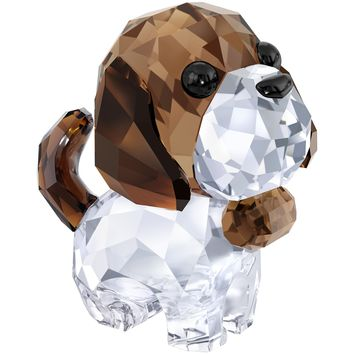 Swarovski Color Crystal Figurine PUPPY BERNIE THE SAINT #5213704
