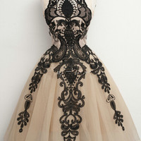 Black Lace Short Tulle 2015 Homecoming Dress