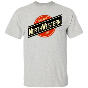 Chicago and Northwestern Railroad Line Tee Shirt