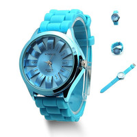 Unisex Silicone Quartz Sports Style Watch Men Women Jelly Wrist Watch = 1956730948