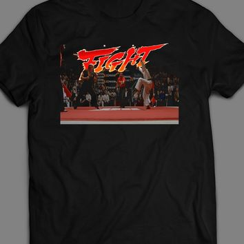 KARATE KID FIGHT SCENE STREET FIGHTER PARODY T-SHIRT
