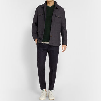 NN.07 - Soho Slim-Fit Cropped Wool-Blend Trousers | MR PORTER