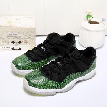 Air Jordan 11 Retro Low Green Snake AJ11 Sneakers