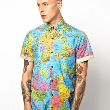 Reclaimed Vintage | Reclaimed Vintage Shirt With World Map Print at ASOS
