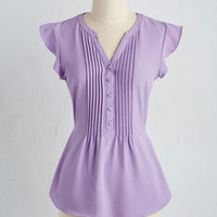 Expert In Your Zeal Top in Lavender