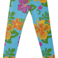 Hawaiian Tropical Leggings created by Natures Sol | Print All Over Me