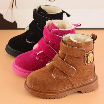 Toddler Children Boys Girls Winter tube Martin Sneaker plus velvet Warm Boots Kids Baby snow boots unisex shoes