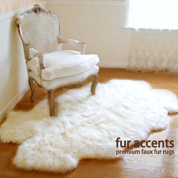 NEW 3'x5' Shaggy Off White Area Carpet / Accent Throw Rug / Plush Quatro Sheepskin / Custom Sizes Available / Baby Nursery / Home Decor