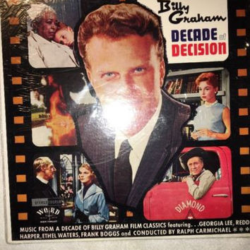 Billy Graham vinyl LP~Decade Of Decision Sealed LP~Word Records WST-8101