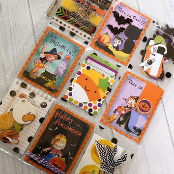 """Halloween Planner""""Candy Corn"""" Themed Pocket Letter, Happy Mail, Planner Supplies, Scrapbooking, Cardmaking, Papercrafting, Embellishments"""