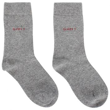 Grey Socks with Classic Branding