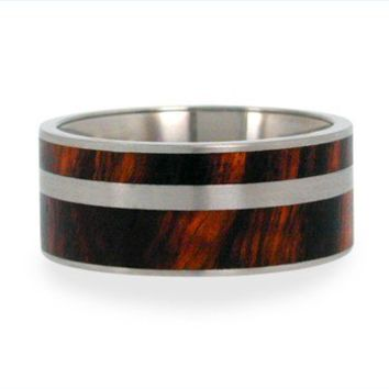 Rings Wood / Wood Wedding Band / Titanium Ring by jewelrybyjohan