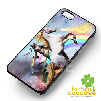 Cat Riding Unicorn with gun-NY for iPhone 6S case, iPhone 5s case, iPhone 6 case, iPhone 4S, Samsung S6 Edge