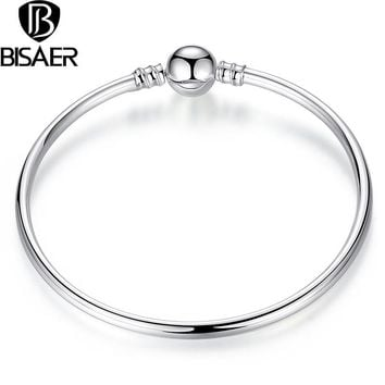 learance Sale silver bangle indian Jewelry Authentic Charm Bracelet Beads Fit Original Charm Bracelet For Women Fine Jewelry