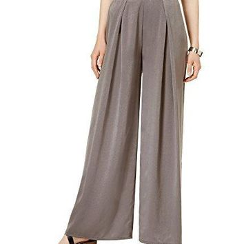 Bar III Womens Pleated Casual Wide Leg Pants