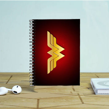 Dc Comics Superhero Wonder Woman Logo Photo Notebook Auroid