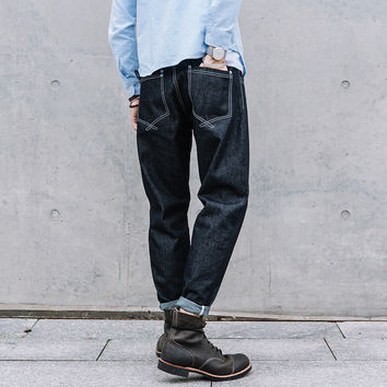 Men's Fashion Autumn Vintage Denim Pants Jeans [7929502147]