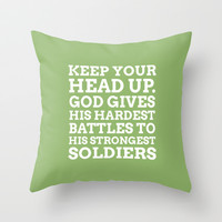 Keep your head up - COLOR6 Throw Pillow by cooledition