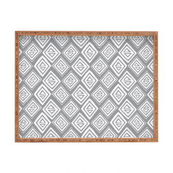 Heather Dutton Diamond In The Rough Grey Rectangular Tray