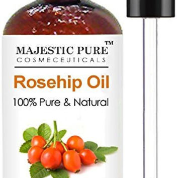 Rosehip Oil for Face, Nails, Hair and Skin From Majestic Pure - 100% Pure, Organic Cold Pressed Premium Rose Hip Seed Oil, 4 oz