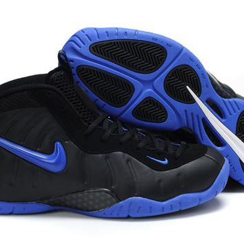 Nike Air Foamposite Pro Black/Royal Blue Sneaker Size US8-13