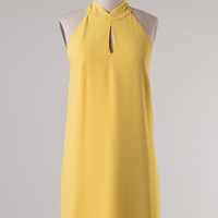 Halter Neck Dress - Yellow