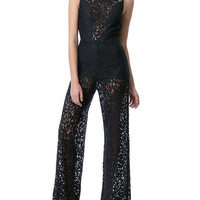 I Am On My Game Lace Jumpsuit - Black