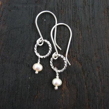 FEBRUARY SPECIAL. Small pearl dangle earring. Add these earrings to your cart when you order 100 dollars of jewelry from my shop.