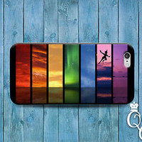 Cute Peter Pan Case Amazing Rainbow Phone Cover iPod iPhone 4 4s 5 5s 5c 6 Plus