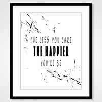 black and white art, inspirational print, typographic print, motivational wall decor best friend gift, typography home office poster artwork
