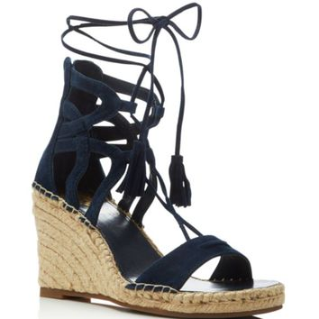 VINCE CAMUTO Tannon Lace Up Espadrille Wedge Sandals | Bloomingdales's