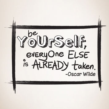 Vinyl Wall Decal Sticker Be Yourself Quote #OS_DC303